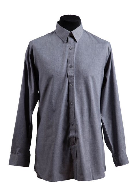 Grey long-sleeved shirt - twin pk (37013)