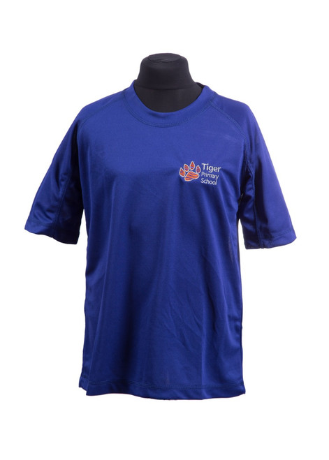 Tiger Primary royal PE t-shirt (42195)