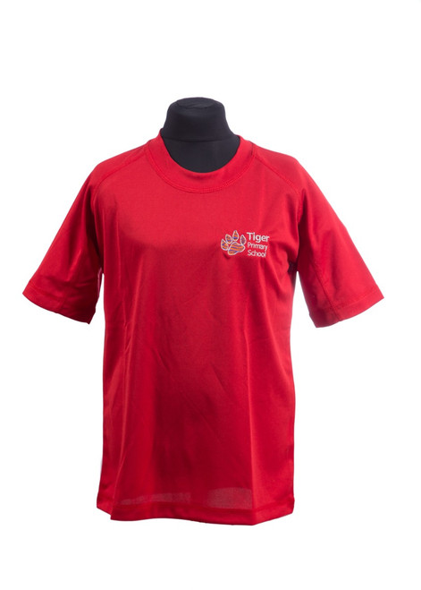 Tiger Primary School red PE t-shirt (42196)