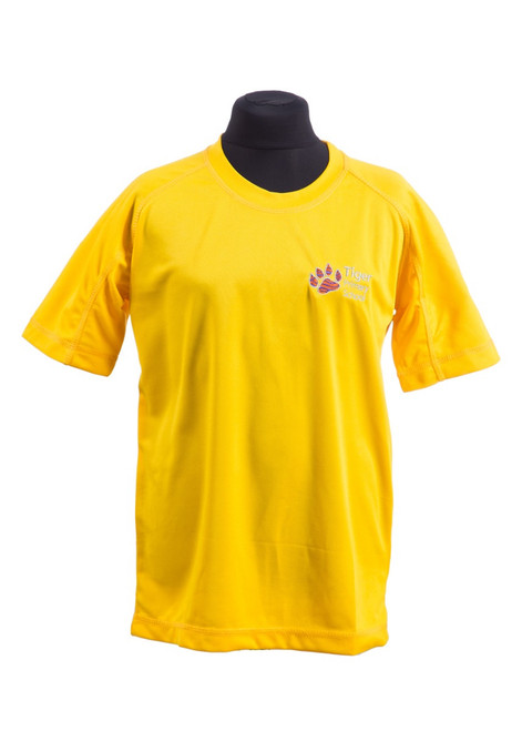 Tiger Primary School yellow PE t-shirt (42197)