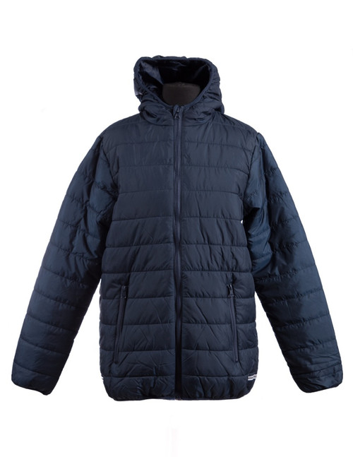 Navy padded jacket (34996)