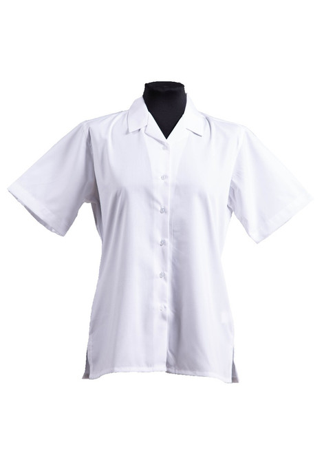 White short sleeved blouse - twin pk  (63101)