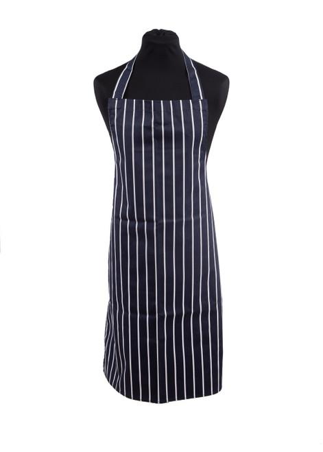 Navy/white striped apron (31949)