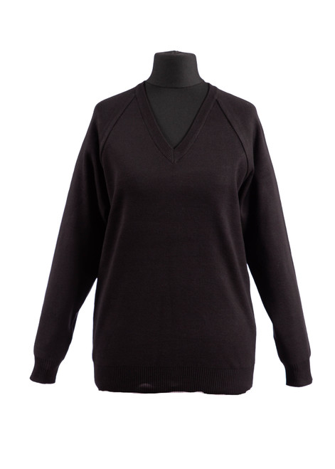 Black v-neck jumper (36990)