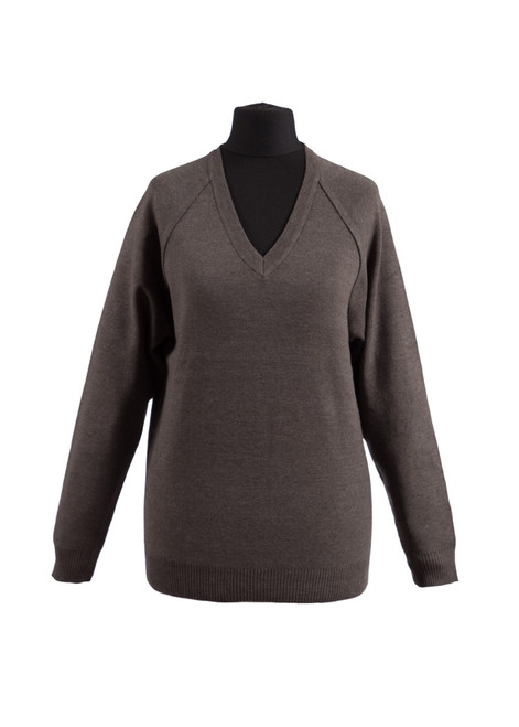 Charcoal v-neck jumper (36991)