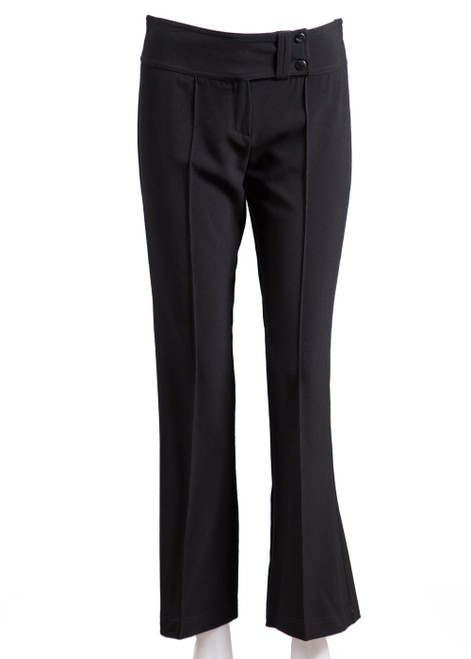 Black bootleg trousers (77005) - REDUCED PRICE