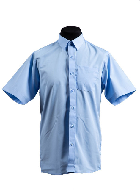 Blue S/S shirt  - twin pk  (37028)