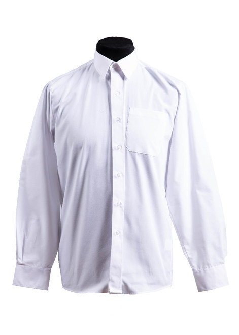 White long sleeved slim fit shirts - twin pack (37007)