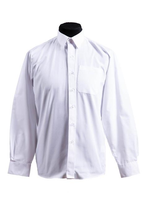 Beechwood Prep white long sleeved slim fit shirts - twin pk (37007)