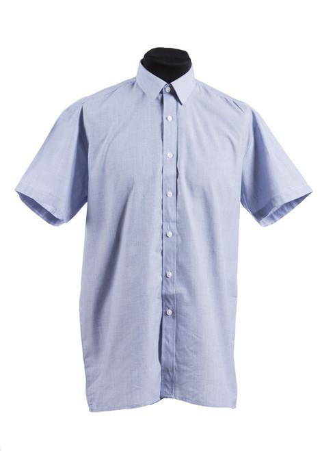Holmewood House blue S/S shirt - twin pk (37098)
