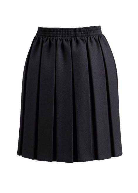 Black pleated skirt (69130)