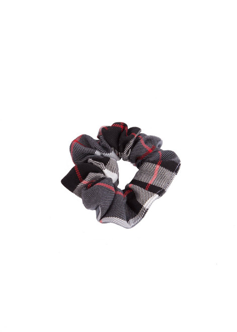 Cumnor House winter tartan scrunchie (60927)