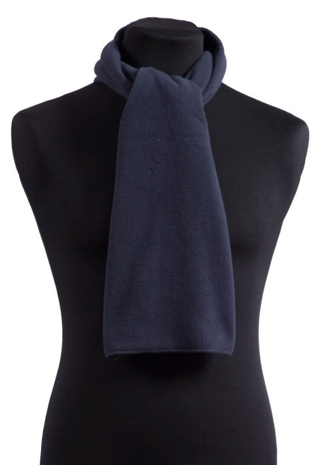 Navy fleece scarf  (31595)