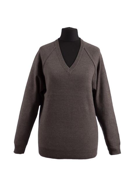 Charcoal v-neck jumper - yrs 7, 8 & 9 (36991)