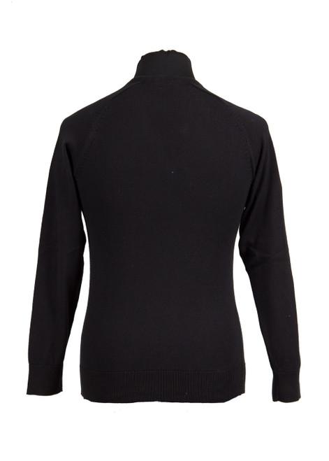 Black fully fashioned v-neck jumper - yr 10 & 11 only  (36020)