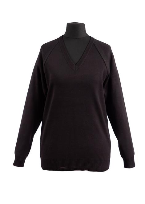 Black v-neck jumper - yr 10 & 11 only (36990)