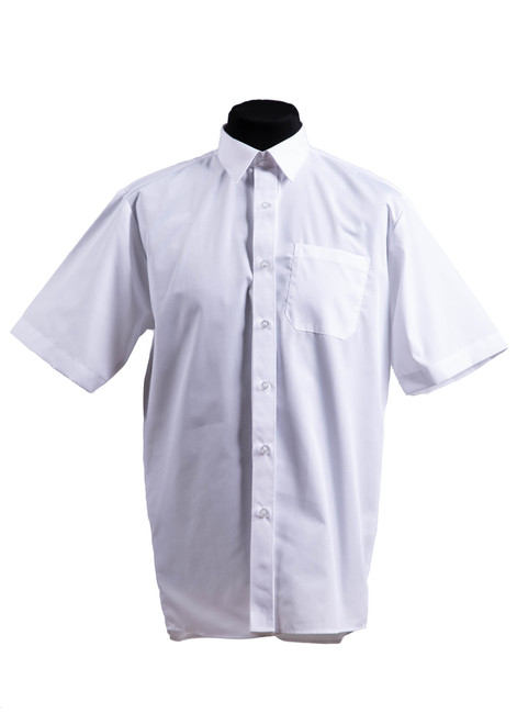 White short sleeved slim fit shirts - twin pk  (37037)