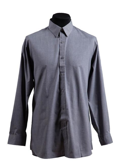 Rose Hill grey long-sleeved shirt - twin pk (37013)