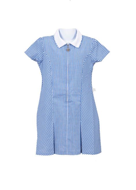 Blue gingham summer dress (79030)