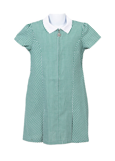 Green gingham summer dress (79031)