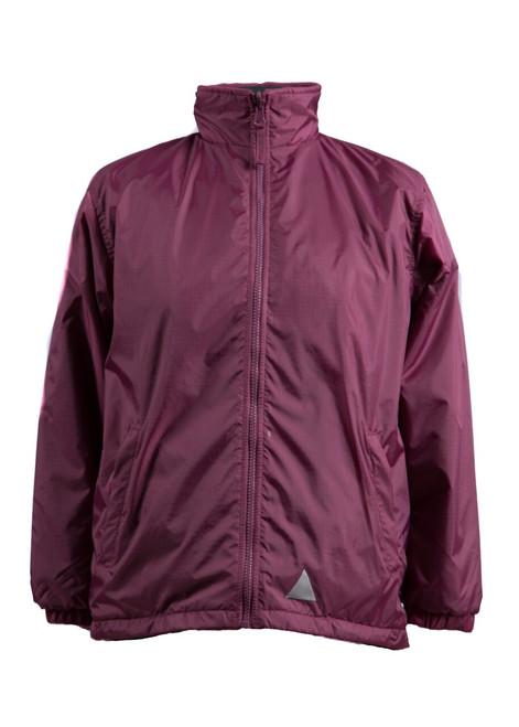 Maroon showerproof jacket - (34129)