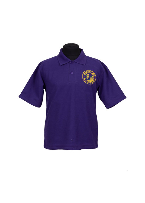 Headcorn Primary purple polo shirt (37994)