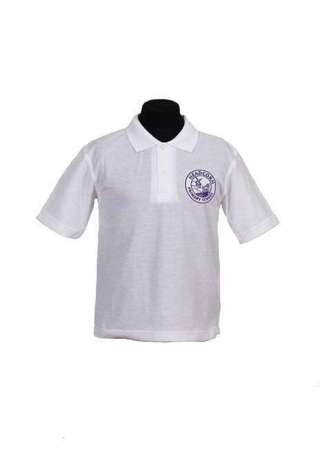 Headcorn Primary white polo shirt (37993)