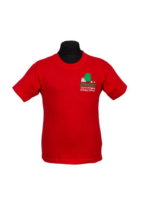 Hunton Primary red house t-shirt (42515)