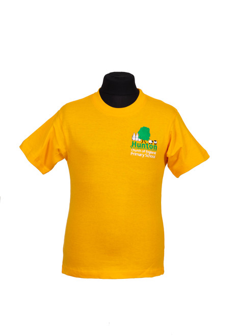 Hunton Primary yellow house t-shirt (42517)