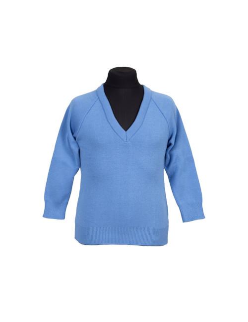 Sky blue v-neck jumper (36914)