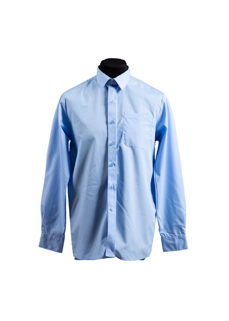 Lingfield College Prep blue L/S shirt - twin pk  (37027)