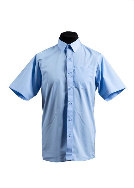 Lingfield College Prep blue S/S shirt - twin pk  (37028)