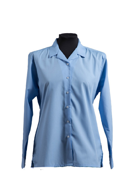 Lingfield College Prep blue long sleeved blouse (63256) - twin pk