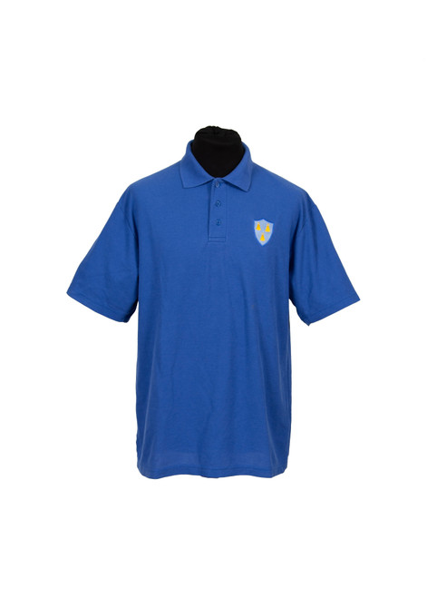 Lingfield College blue house polo (37076)