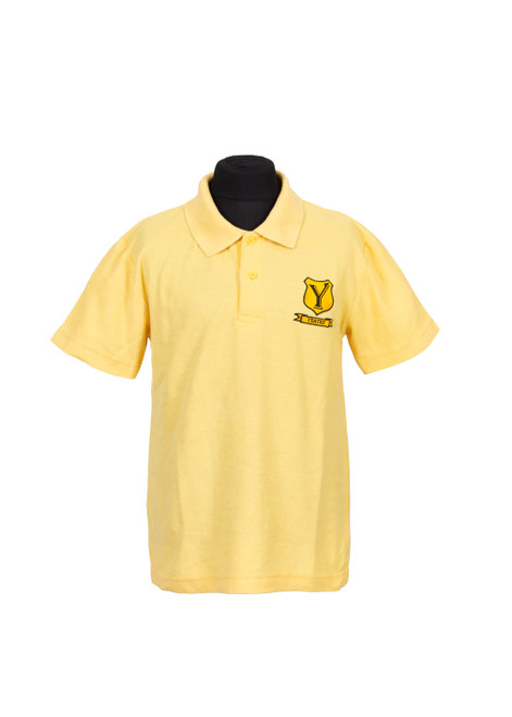 Lingfield College yellow house polo (37077)