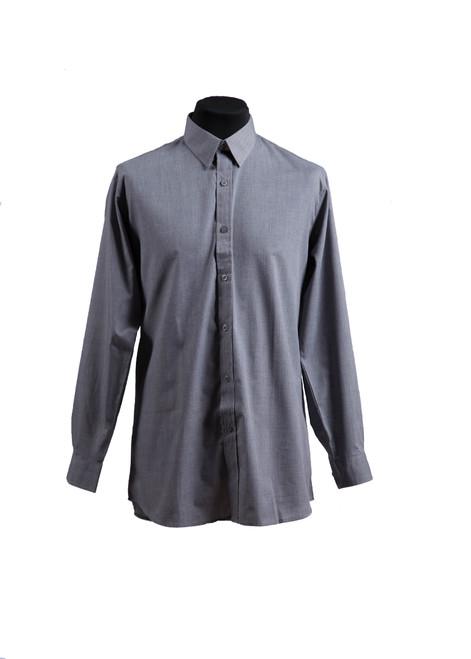 Lingfield College grey long-sleeved shirt - twin pk (37013)
