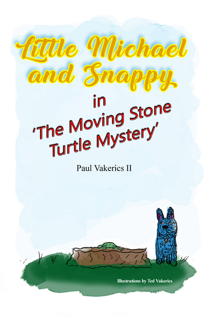 """Little Michael and Snappy in """"The Moving Stone Turtle Mystery"""""""