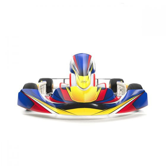 Silverstone Blue Kart Graphics Kit Front Low View