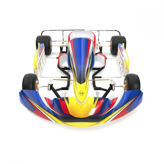 Silverstone Blue Kart Graphics Kit Front High View