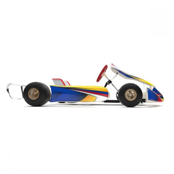Silverstone Blue Kart Graphics Kit Side View