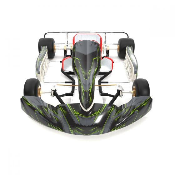 SCC Green Kart Graphics Kit Front High View