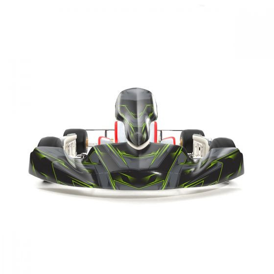 SCC Green Kart Graphics Kit Front Low View