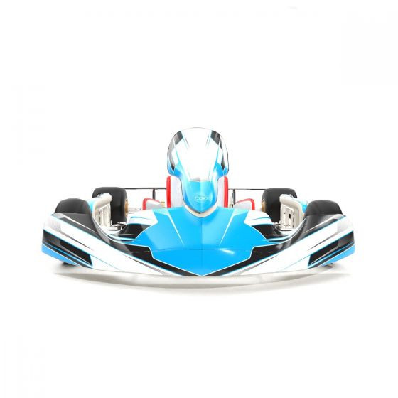 Pulse Blue Kart Graphics Kit Front Low View