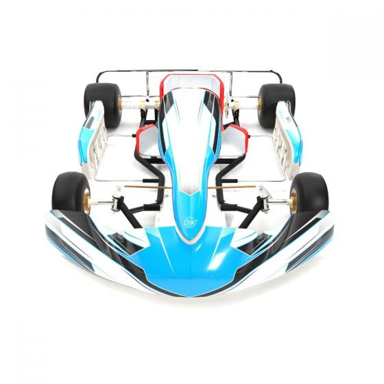 Pulse Blue Kart Graphics Kit Front High View