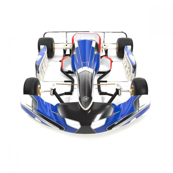 Viper Blue Kart Graphics Kit Front High View