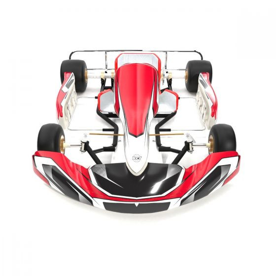 Meteor Red Kart Graphics Kit Front High View