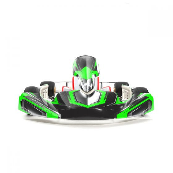 Force Flourescent Green Kart Graphics Kit Front Low View