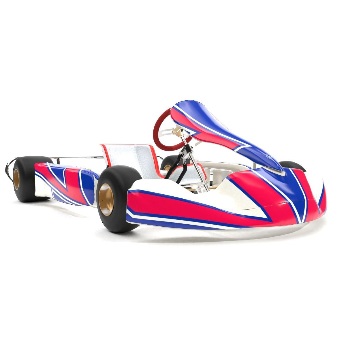 Kosmic 2019 Replica Kart Graphics Kit 3/4 View