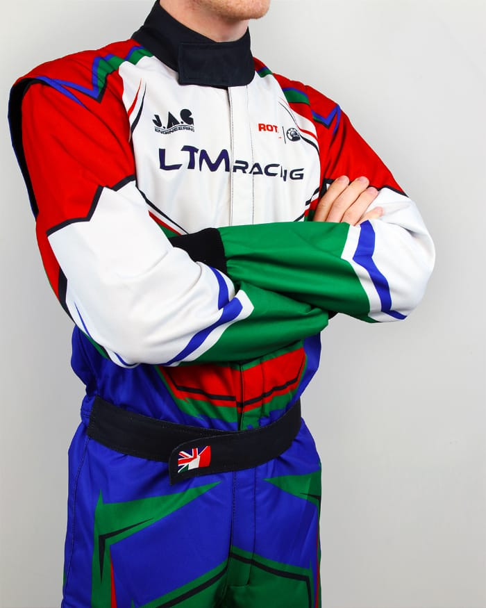RGB Upper 34 of Sublimated karting race suit