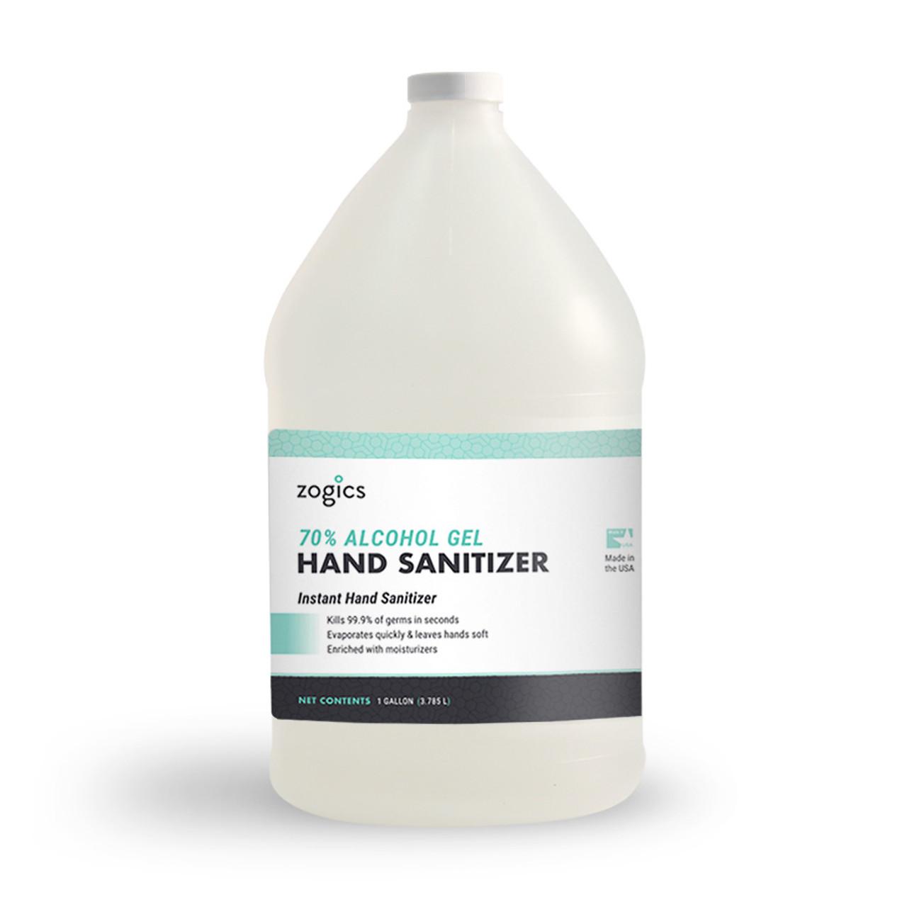 Zogics 70% Alcohol Gel Hand Sanitizer